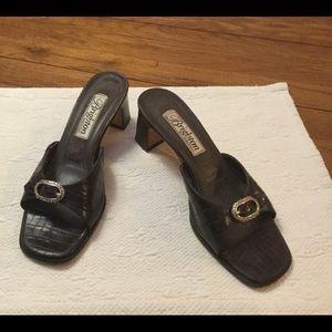 Vintage Brighton Brown Croc Sandals